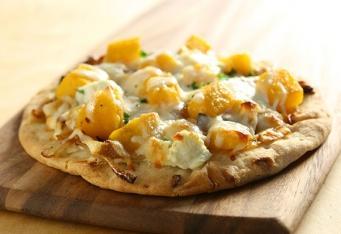 Pizza sdýní, gorgonzolou </br>a rukolou